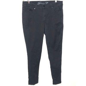 Seven7 black mid rise skinny jeans Size 16